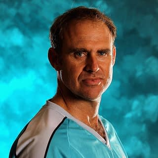 SYDNEY, AUSTRALIA - JULY 26:  Matthew Hayden of the Brisbane Heat poses for a portrait ahead of the launch of the KFC T20 Big Bash League on July 26, 2011 in Sydney, Australia.  (Photo by Hamish Blair/Getty Images)
